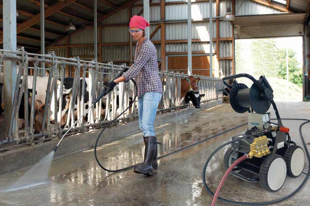 Limpieza de corrales de la industria ganadera